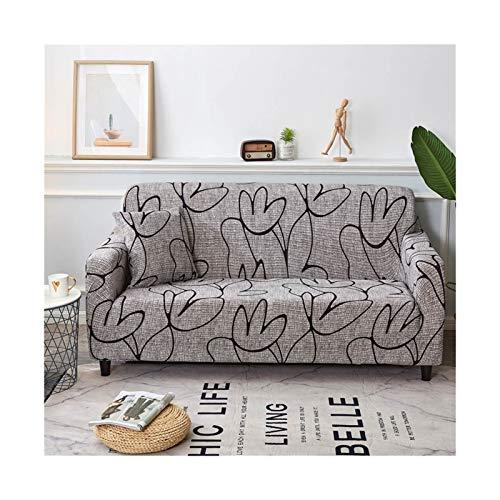 Cubierta de sofá de Estiramiento, sofá elásticos Cubiertas para Sala de Estar, Sofá Muebles Protector Fundas Sofás con Chaise Longue 1pc (Color : Color 21, Specification : 1 Seat 90 140cm)