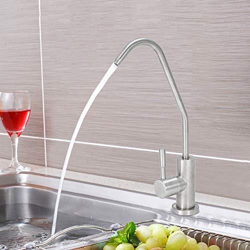 Atyhao Grifo de Filtro de Agua de Cocina de Rosca G1 / 2in Grifo de Agua sin Plomo para Unidades de ósmosis inversa Sistema de filtración Grifo de Filtro de Agua de Cocina(1#)