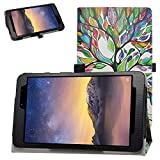 Bige for MOXEE Tablet 8 inch Case,PU Leather Folio 2-Folding Stand Cover for MOXEE Tablet 8 inchmt-t800 Tablet,Love Tree