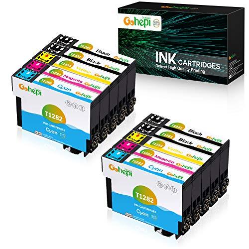 Gohepi Reemplazo para Epson T128 T1281 T1282 T1283 T1284 T1285 Cartuchos de tinta Compatible con Epson Stylus SX235W SX445W SX130 SX125 SX420W S22 SX230 SX435W Office BX305F BX305FW Plus BX305FW