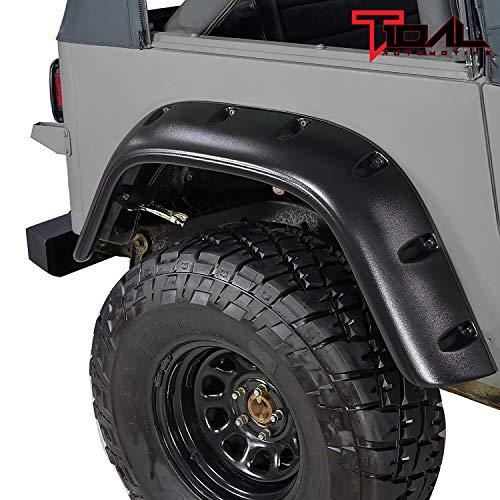 Tidal Black Wheel Cover Fender Flares Fit for 87-95 Wrangler YJ