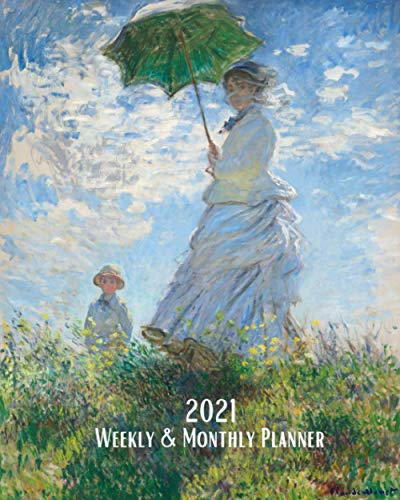 2021 Weekly and Monthly Planner: Claude Monet - Woman with a
