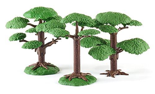 SIKU 5590 - 2 Laubbäume, Kunststoff, Flexibel steckbar, grün