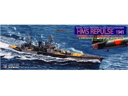 Battlecruiser Repulse 1941 Cruiser 1/700 Royal Navy Renown Class (W123) (japan import)
