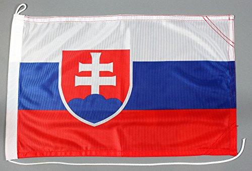 Bootsflagge Slowakei 30 x 45 cm in Profiqualität Flagge Motorradflagge