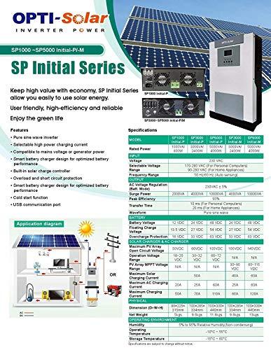 AC230V input / AC230V output Solar Hybrid Inverter DC24V 3000W 3KVA Pure SINE Wave Charger Regulator 70A Opti