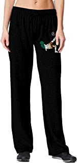 TBVS 78 Soccer Player with Mexico Flag Women's Sweatpants with Pockets Athletic Pants for Jogging,Yoga,Dance,Running