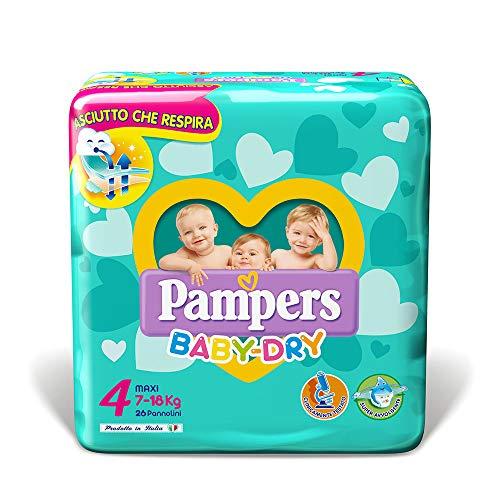 Pampers Baby Dry Maxi, 26 Pannolini, Taglia 4 (7-18 kg)