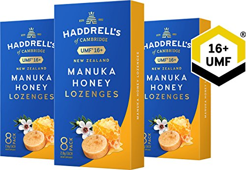 Haddrell's Manuka Honig Lutschbonbons 3er Pack MGO 550+ (UMF 16+) (3 x 22,4 g)