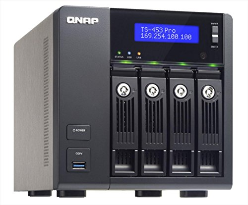 QNAP TS-453 Pro Desktop NAS-System 12TB (4-Bay, 4X 3TB WD Red, 2GB RAM)