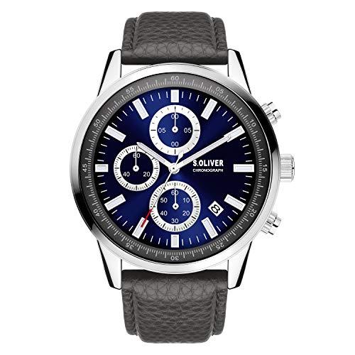 s.Oliver Damen Analog Analogquarz Uhr mit Kunstleder Armband SO-4114-LC