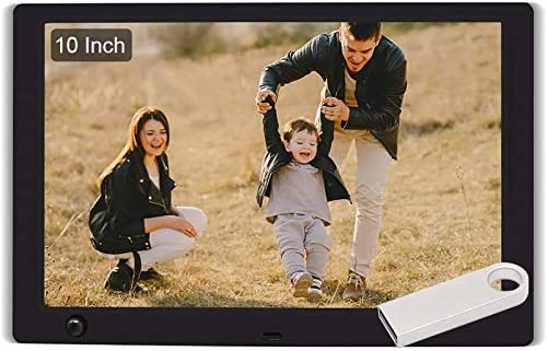 WayGoal 10 Inch Digital Picture Frame 16GB USB Flash Drive 1920x1080 Full HD IPS Screen With product image