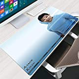 LJUKO Gaming Mouse Pad White indian actor Amir 39.3x19.6 inch Gaming Mouse Pad, Soft Large Extended Mouse Pad, Computer Keyboard Pad Mat, Non-Slip Rubber Base Waterproof Mousepad Optimized for Gamer/O
