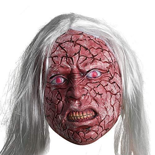 Rojo Blanco de la Cara del Pelo Diablo Máscara de látex/Horror Maquillaje...