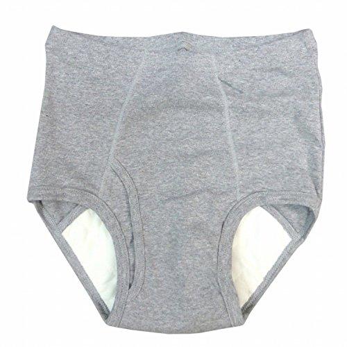 失禁ブリーフ メンズ パンツ 50cc 日本製 尿漏れパンツ グレー M