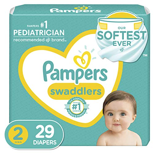 Diapers Size 2, 29 Count - Pampers Swaddlers Disposable Baby Diapers, Jumbo Pack (Packaging May Vary)