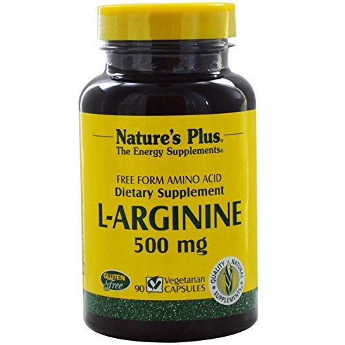Nature\'s Plus, L-Arginine, 500 mg, 90 Vegetarian Capsules