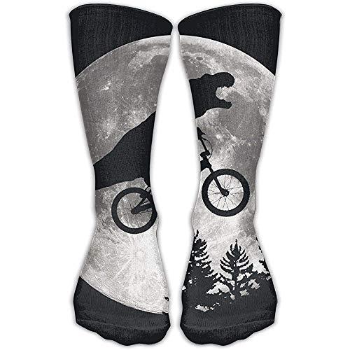 NA man dinosaurus fiets maan boom enkels jurk crew lengte sokken gepersonaliseerde sok