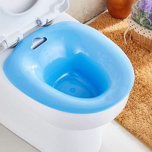 EasyBravo Sitz baño sobre el inodoro baño perineal para alivio hemorroideal, ideal para pacientes postepisiotomía, para mujeres embarazadas, para ancianos