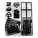 NABIAN 28pcs Plastic Poker Card Cookie Cutter Sugarcraft Fondant Cutter Poker Set Cupcake Cake Cutting Mold Cake Decorating Tools