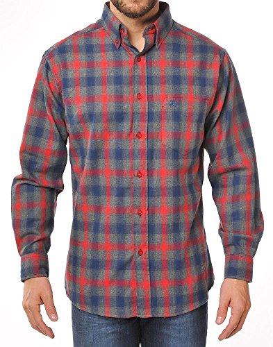 Winchester Target Hemd Langarm Größe L grau/rot/blau