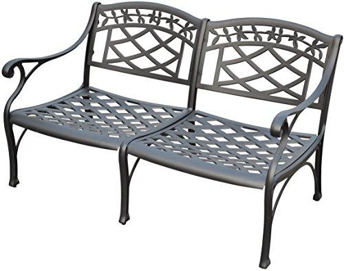 Crosley Furniture CO6104-BK Sedona Solid-Cast Aluminum Outdoor Loveseat, Black