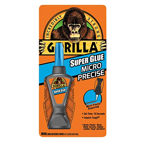 Gorilla Micro Precise Super Glue, 6 gram, Clear, (Pack of 1)