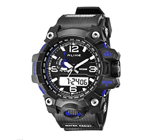 Best Buy! Alike AK15116 Unisex Luxury Fashion Sport Watch Dual Time Shows Multi Function Quartz Digi...