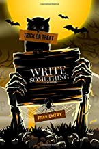 Notebook - Write something: Dead Man's arms from the ground with invitation to zombie party notebook, Daily Journal, Composition Book Journal, College Ruled Paper, 6 x 9 inches (100sheets)