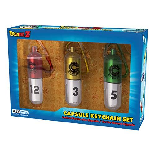 ABYstyle – Dragon Ball Z – Conjunto de 3 chaves Capsule Corp.
