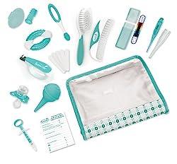 teal/white nursery care kit.