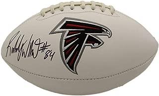 Roddy White Autographed/Signed Atlanta Falcons Logo Football JSA