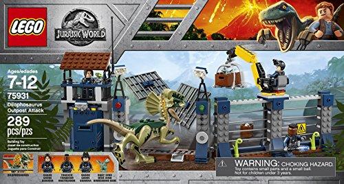 Lego Jurassic World Dilophosaurus Outpost Attack 75931 (289 Pieces)