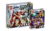 Collectix Lego Marvel Avengers 76164 Iron Man Hulkbuster vs. A.I.M.Agent + 76141 Thanos Mech - Juego de figuras de Los Vengadores