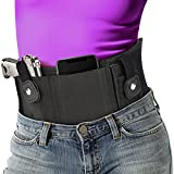 EZshoot Belly Band Gun Holster for Concealed Carry - Breathable Neoprene Waist Pistol Holster for Men and Women Fits Glock, Ruger LCP, S&W M&P Shield 9MM, Sig Sauer, Ruger, Kahr, Beretta, 1911, etc