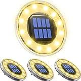 Solarleuchte für Außen 12 LED, Biling Solar Gartenleuchte IP68 Wasserdicht Gartenleuchte...