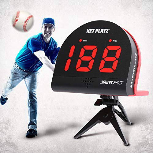 NetPlayz Baseball Radars, Speed Sensors Training Equipment (Hands-Free Radar Guns, Pitching Speed Guns | Baseball Gifts, High-Tech Gadget & Gear for Baseball Players