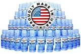 Hand Sanitizer Gel 2 oz Mini Size (Case of 50) with Flip Top Cap by EmUrgent USA - 70% Ethyl Alcohol - FDA Registered - Proudly Made In USA - Small Individual Personal Pocket 2 Ounce Travel Size Bulk