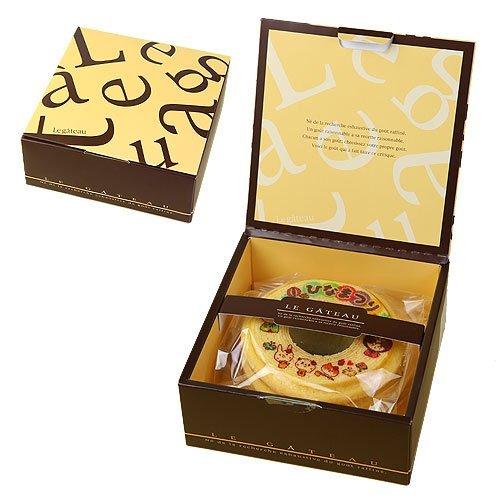バウムクーヘン ひなまつり 雛祭 1個 ギフト箱入り 桃の節句 内祝いギフト 茶色(ブラウン)の箱
