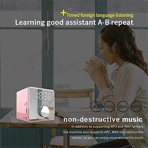 Digitale radio Wekker Luidspreker Bluetooth-miniluidspreker Subwoofer met digitale schermtijd Luidspreker Wit voor volwassenen, kinderen, slaapkamers