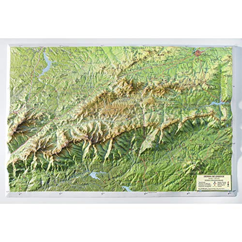 Mapa en relieve Sierra de Gredos: Escala 1:250.000