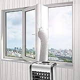 Molbory 400CM Fensterabdichtung für Mobile Klimageräte, Klimaanlagen,Wäschetrockner und Ablufttrockner,AirLock zum Anbringen an Fenster,Dachfenster Flügelfenster keine Bohrlöcher erforderlich (Weiß)