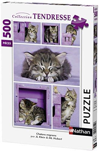 Nathan 87227 - Puzzle con gattini carini, 500 pezzi