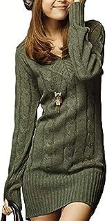 [アスペルシオ] 長袖 ニット セーター ケーブル編み レディース