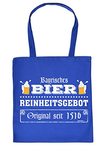 Art & Detail Shirt Baumwolltasche bedruckt: Bayerisches Bier Reinheitsgebot Original seit 1516