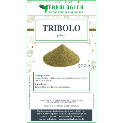 Tribulus terrestris in polvere 500 grammi