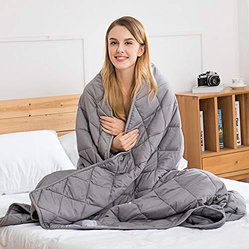 jaymag Therapiedecke Gewichtsdecke für Erwachsene/Jugendliche Für Besseren Schlaf – Schwere Decke Anti Stress - Beschwerte Decke für Angststörung - 15lb Weighted Blanket 6,8kg 122x183cm