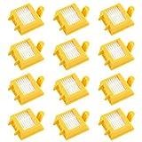 MIRTUX Kit 12 filtros compatible con Roomba 700. Pack de repuestos de Filtro Serie 7. Recambio de reemplazo con doce filtros 720, 730, 750, 760, 765, 770, 772, 776, 780, 785, 790