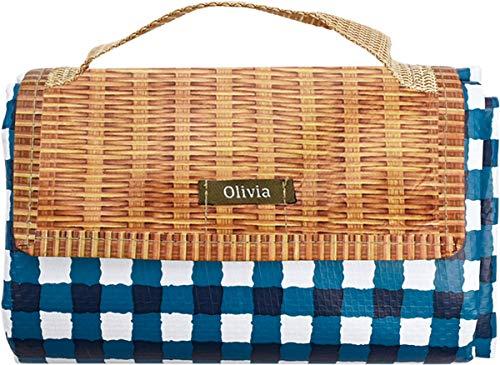 現代百貨 レジャーシート Olivia 150×90cm タータンチェック ブルー A397BL