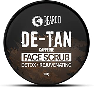 Beardo DeTan Face Scrub for Men   Coffee Scrub for Blackhead, Tan & Dead Cell Removal   Natural Glow   Rejuvenates Skin (1...